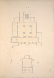 Ground Plans of Cave 13 and Cave 22, Ajanta